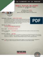 Informe de Reporteros Sin Fronteras (RSF) en francés