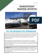 Riverfront Marine Sports November 2016 Newsletter