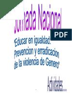 JOrnada Nacional Prevencion y Erradicacion de La Violencia de Genero