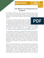 COMUNICADO - Voluntad Popular responde a Nicolás Maduro