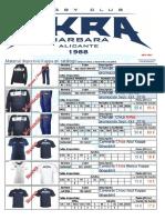 Catálogo de Material 2016-2017 Akra Barbara Rugby