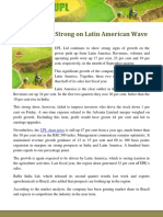 UPL growing Strong on Latin American Wave