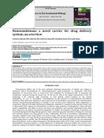 Nanoemulsionas a novel carrier for drug delivery system