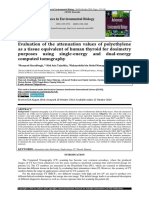 Evaluation of the attenuation values of polyethylene as a tissue equivalent of human thyroid for dosimetry purposes using single-energy and dual-energy computed tomograph