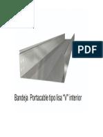 "Bandeja Portacable Tipo Lisa ""v"" Interior"