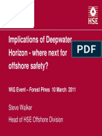 Presentation Steve Walker Implications of Deepwater Horizon