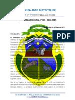 Ordenanza Nº001 2016 Mda