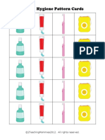 Dental Hygiene Pattern Cards