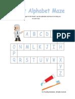 Dentist Alphabet Maze