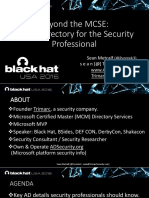 Us 16 Metcalf Beyond the MCSE Active Directory for the Security Professional