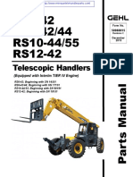 Gehl RS 10-44-55 Telehandler Parts Manual (JUNE 2015)