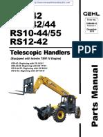Gehl RS 10-44-55 Telehandler Parts Manual (JUNE 2015)