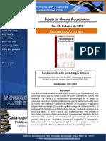 Boletín Nuevas Adquisiciones - Centro de Documentación FCSH - Octubre