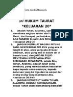 10 Hukum Taurat