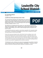 Official statement from Louisville City School District concerning teachers strike