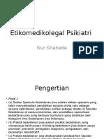 Etikomedikolegal Psikiatri