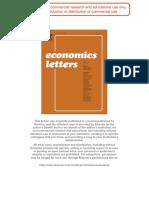Economics Letters Transactions Balances