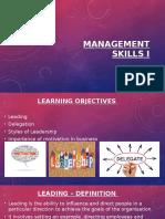 unit 3 management skills of leadership   motivation