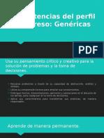 Competencias Del Perfil de Egreso - GENERICAS