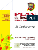 Plan Desarrollo Balboa Cauca 2016 2019