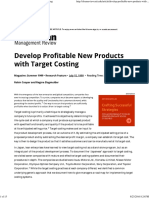 Develop Profitable New Products With Target Costing