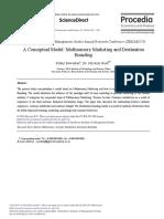 A Conceptual Model Multisensory Marketing and Destination Branding 2014 Procedia Economics and Finance