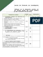 Evaluación de ProtocolO Aceptacion Politica BU