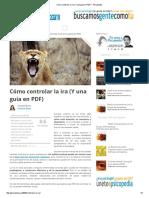 Cómo controlar la ira (Y una guía en PDF) - Psicopedia