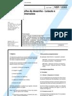 NBR 160224 - Folha de desenho layout e dimensões