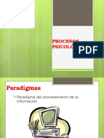 Procesos psicológicos, paradigmas