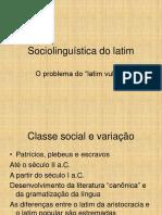 Sociolinguística Do Latim