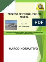Formalización Minera