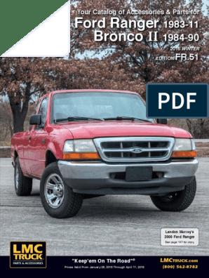 Front License Plate Bracket Textured Black For Ranger 08-11