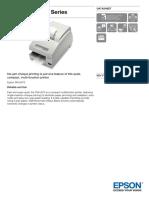 Epson TM U675 Series Datasheet