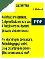 Poezie Crizantema