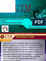 DEVELOPMENT OF UNDERGROUND LAND IN MALAYSIA
