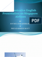 Singapore Airline Ppt