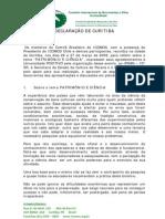 2009 - Carta de Curitba