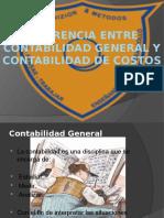 Diferencia Entre Contabilidad General y Contabilidad de Costos