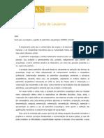1990 - Carta de Lausanne