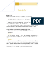 1992 - Carta Do Rio