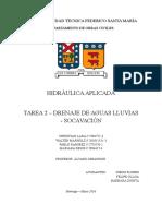 Tarea DRENAJE DE AGUAS LLUVIAS - SOCAVACIÓN