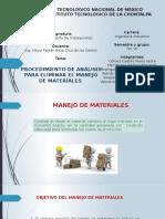 2.4. Procedimiento de Análisis Para Eliminar El Manejo de Materiales