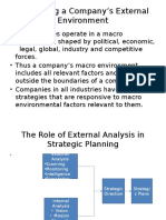 Evaluating a Company's External Environment 2
