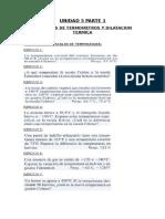 Problemario de Termometros y Dilatacion Termica