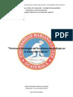 Manual sobre Técnicas y Estrategias de Ensenanza-Aprendizaje