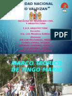 Marco Teorico de Vivienda Urbana- Tingo Maria