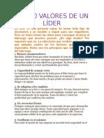 Los 10 Valores de Un Líder