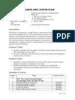Course Description of ID for Mathematics