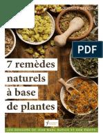 Dossier santé 7remèdes naturels à base de plantes
